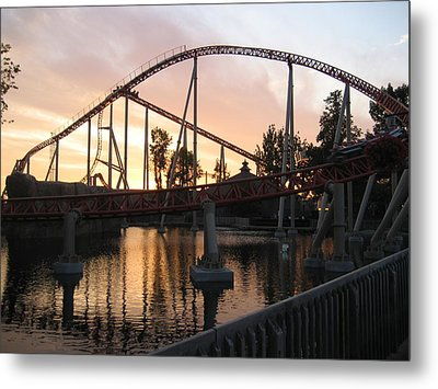 Cedar Point - Maverick - 12122 Metal Print by DC Photographer