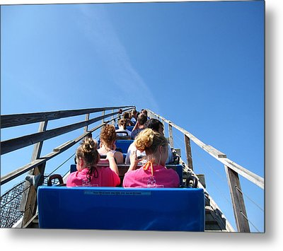 Cedar Point - Mean Streak - 12122 Metal Print by DC Photographer