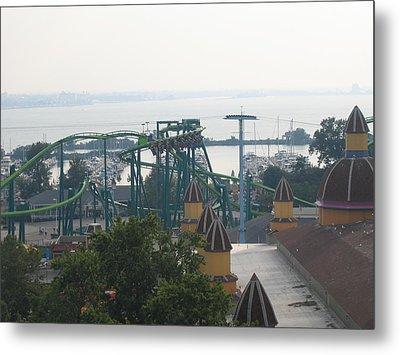 Cedar Point - Raptor - 121211 Metal Print