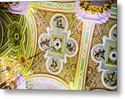 Ceiling - Cathedral Of Saints Peter And Paul Metal Print by Jon Berghoff