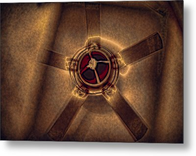 Ceiling Fan Reflected In Ipad Metal Print by J Riley Johnson