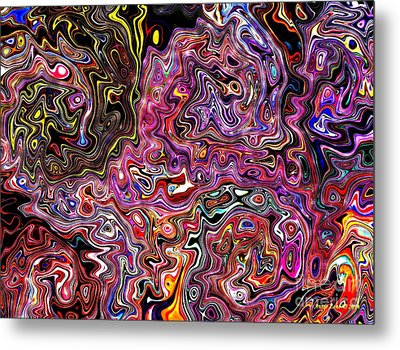 Metal Print featuring the digital art Celebrate An Abstract Modern Contemporary Digital Art by Annie Zeno