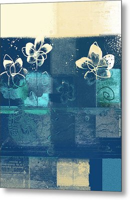 Celebrate - Blue3tx2 Metal Print by Variance Collections