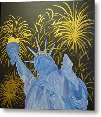 Celebrate Freedom Metal Print by Cheryl Lynn Looker