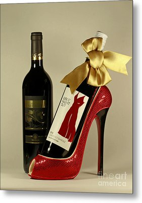Celebrate In Style With Merlot And Cabernet Metal Print