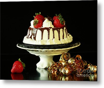 Celebrate With Cake Metal Print by Inspired Nature Photography Fine Art Photography