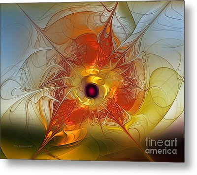 Celebration For A Rising Star-abstract Fractal Art Metal Print by Karin Kuhlmann