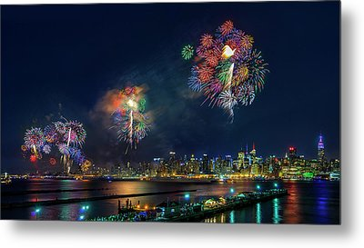 Celebration Of Independence Day In Nyc Metal Print