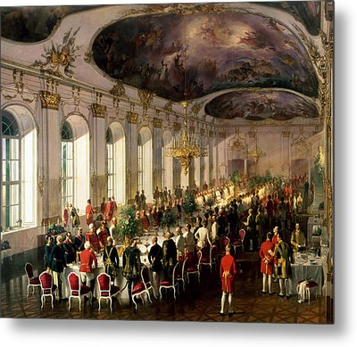 Celebration On The Occasion Of The Anniversary Of The Military Order Of Maria Theresa, 1861 Metal Print by Siegmund L'Allemand