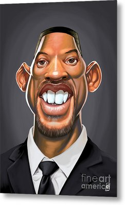 Celebrity Sunday - Will Smith Metal Print by Rob Snow