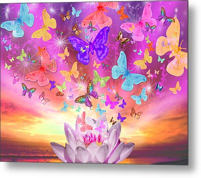 Celestial Butterfly Metal Print by Alixandra Mullins
