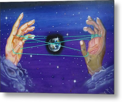 Celestial Cats Cradle Metal Print