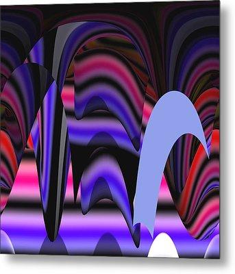Celestial Cave Digital Art Metal Print by Georgeta  Blanaru