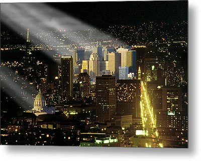 Celestial Light Metal Print by Rod Jones