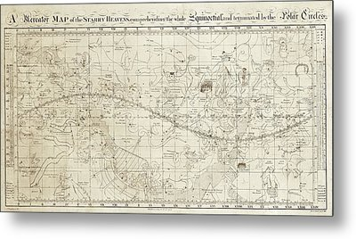 Celestial Map Of The Heavens Metal Print by Library Of Congress, Geography And Map Division