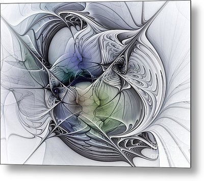 Celestial Sphere Abstract Art Metal Print by Karin Kuhlmann