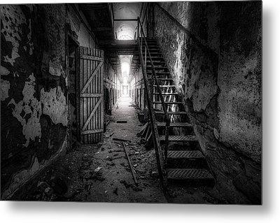 Cell Block - Historic Ruins - Penitentiary - Gary Heller Metal Print by Gary Heller