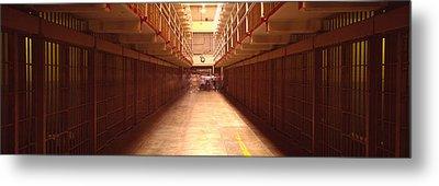 Cell Block In A Prison, Alcatraz Metal Print