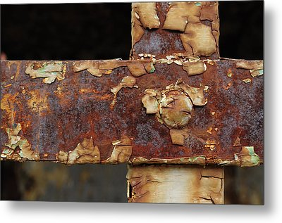Metal Print featuring the photograph Cell Strapping by Fran Riley