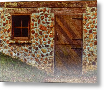 Cellar Door In The Mist Metal Print by Jack Zulli