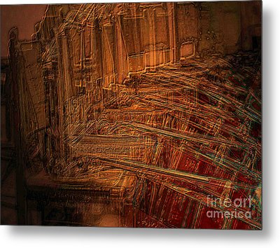 Celli On Chairs Metal Print
