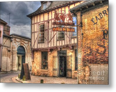 Cellier St. Pierre Troyes France Metal Print by Malu Couttolenc