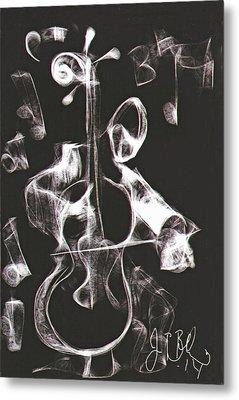 Cello Player  Metal Print by Jon Baldwin  Art