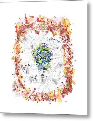 Cellular Generation Metal Print by Regina Valluzzi