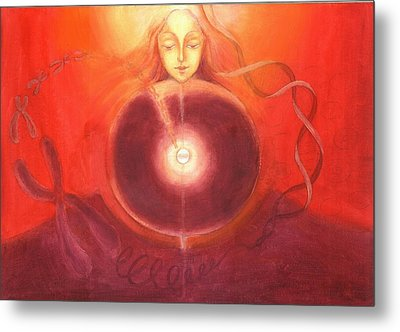 Cellular Yoga Metal Print by Shiva Vangara