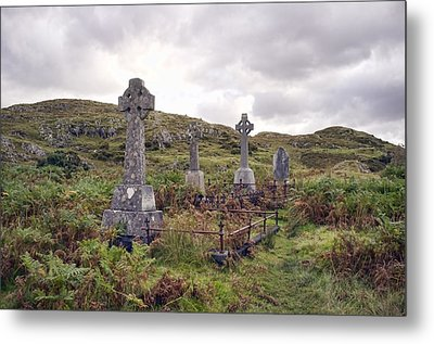 Metal Print featuring the photograph Celtic Cemetary by Hugh Smith