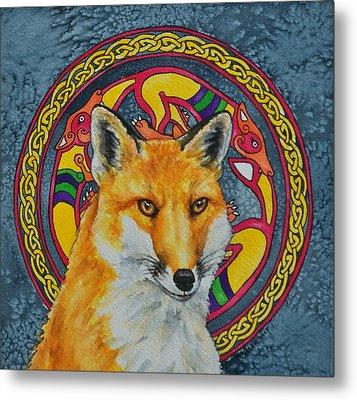 Celtic Fox Metal Print by Beth Clark-McDonal