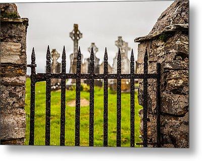 Celtic Graveyard Metal Print by Craig Brown