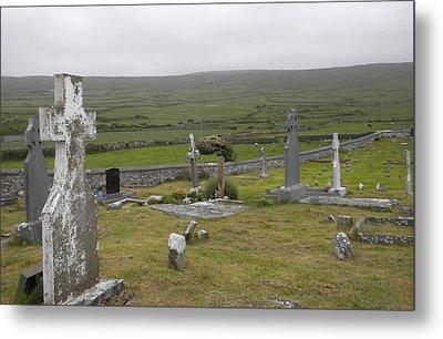 Celtic Graveyard Metal Print by Teresa Tilley