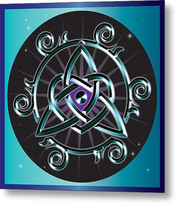 Celtic Triquetra Heart Metal Print