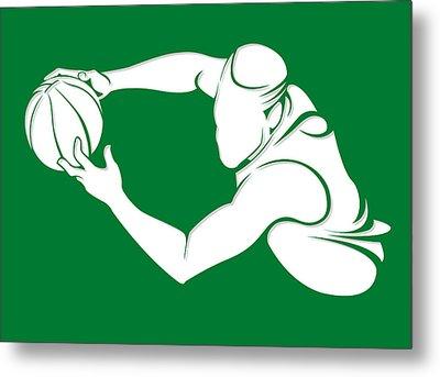 Celtics Shadow Player2 Metal Print