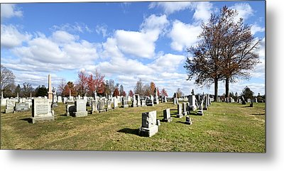Cemetery At Gettysburg National Battlefield Metal Print by Brendan Reals