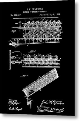 Cemetery Coffin Patent Metal Print
