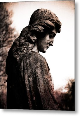 Cemetery Grief Metal Print by Sonja Quintero
