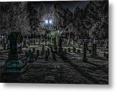 Cemetery  Metal Print by Ray Congrove