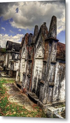Cemetery Tomb New Orleans Metal Print by Timothy Lowry