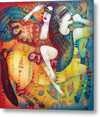 Centaur In Love Metal Print