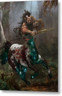 Centaur Token Metal Print by Ryan Barger