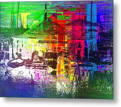 Center For Wooden Boats Cubed 1 Metal Print