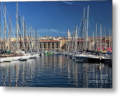 Centered In The Port Metal Print by John Rizzuto