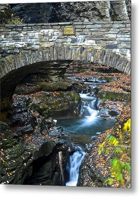 Central Cascade Metal Print by Frozen in Time Fine Art Photography