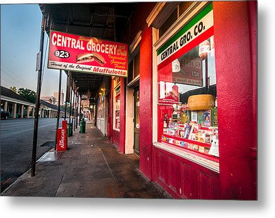 Central Grocery And Deli In New Orleans Metal Print by Andy Crawford