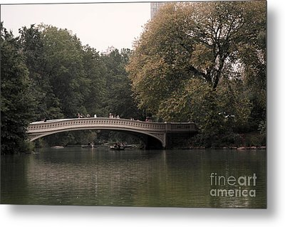 Central Park Bow Bridge Metal Print by David Bearden