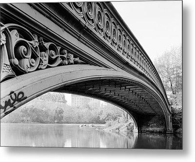 Central Park Bow Bridge Metal Print by Bill Cannon