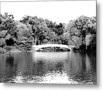 Metal Print featuring the photograph Central Park Bridge by Justin Lee Williams