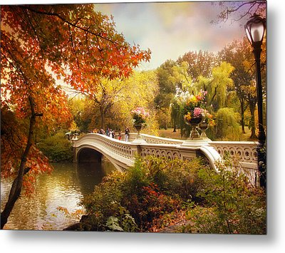 Central Park Crossing Metal Print by Jessica Jenney